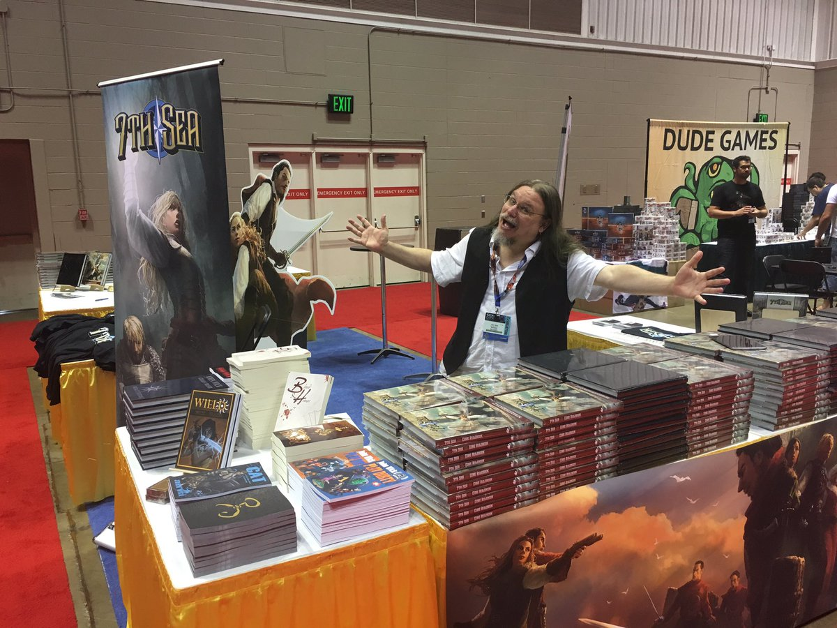 John Wick at GenCon 2016 Booth 3015 with 7thSea Books