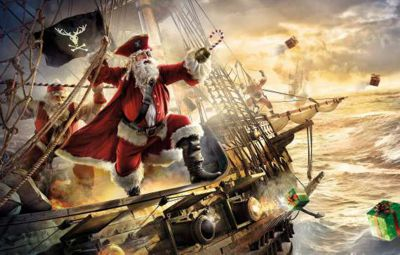 Santa captains ships for Christmas