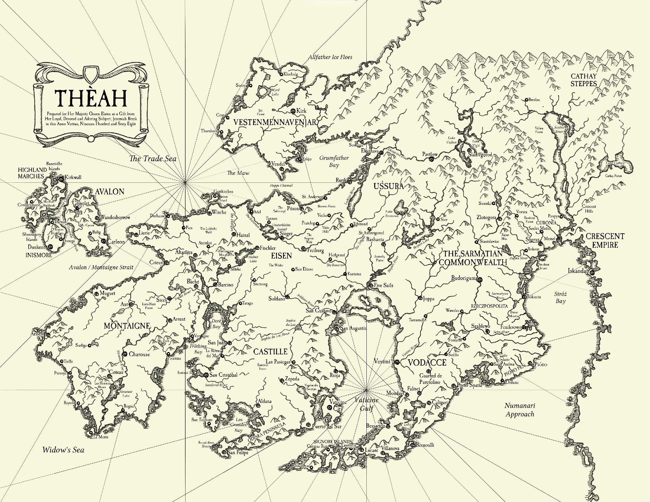 7th Sea 2e Map of Theah